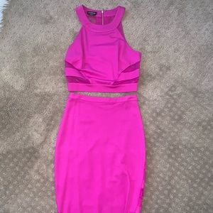 BEBE CROP TOP AND SKIRT SET SIZE SMALL